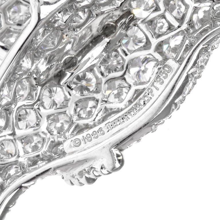 Tiffany & Co. Hummingbird Pavé Diamond Platinum Brooch Pin For Sale 1