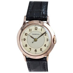 Tiffany & Co. I. W. C. Watch Company Rose Gold Manual Wind Watch