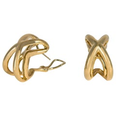 Tiffany & Co. Iconic Crisscross Gold Earrings