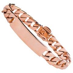 Tiffany & Co. ID Cuban Bracelet in 18 Karat Rose Gold