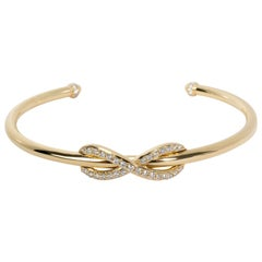Tiffany & Co. Infinity Diamond Bangle in 18 Karat Yellow Gold 0.39 Carat