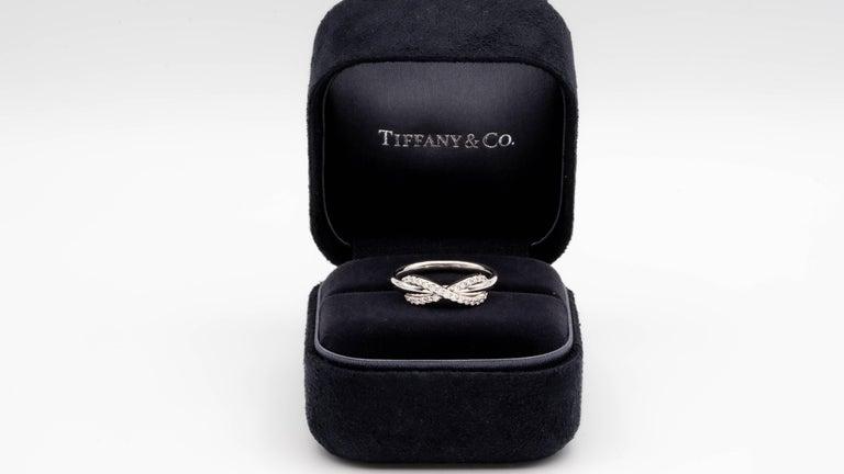 Round Cut Tiffany & Co. Infinity Diamond Ring in 18 Karat Gold