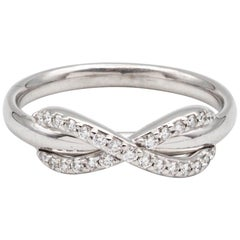 Tiffany & Co. Infinity Diamond Ring in 18 Karat Gold