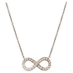 Tiffany & Co. 'Infinity' Platinum and Diamond Necklace