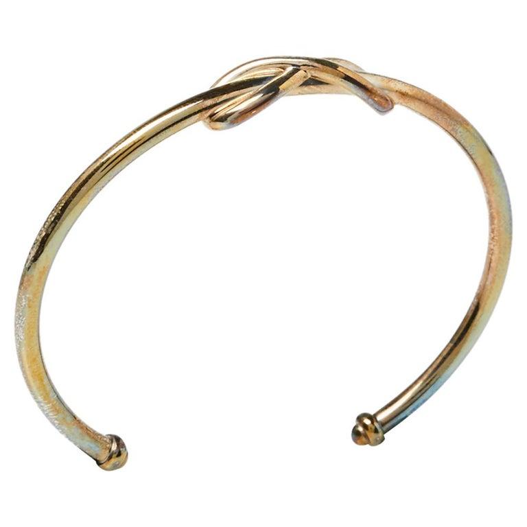 Women's Tiffany & Co. Infinity Sterling Silver Open Cuff Bracelet For Sale
