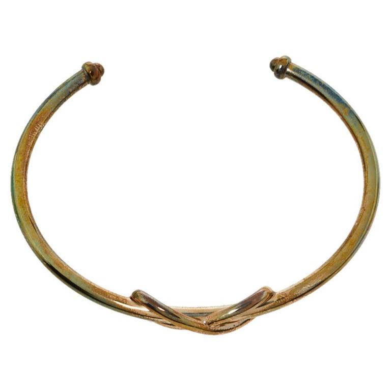 Tiffany & Co. Infinity Sterling Silver Open Cuff Bracelet For Sale 1