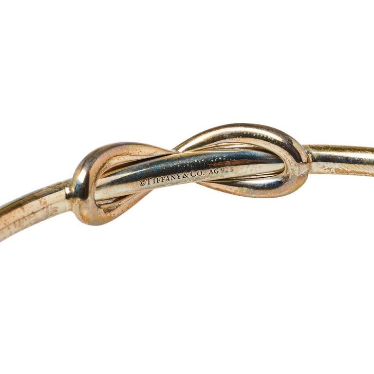 Tiffany & Co. Infinity Sterling Silver Open Cuff Bracelet For Sale 2