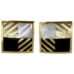 Tiffany & Co. Inlaid Mother of Pearl Earrings