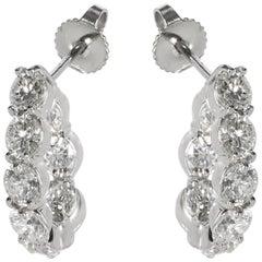 Tiffany & Co. Inside Out Diamond Hoop Earrings in Platinum 4.50 Carat