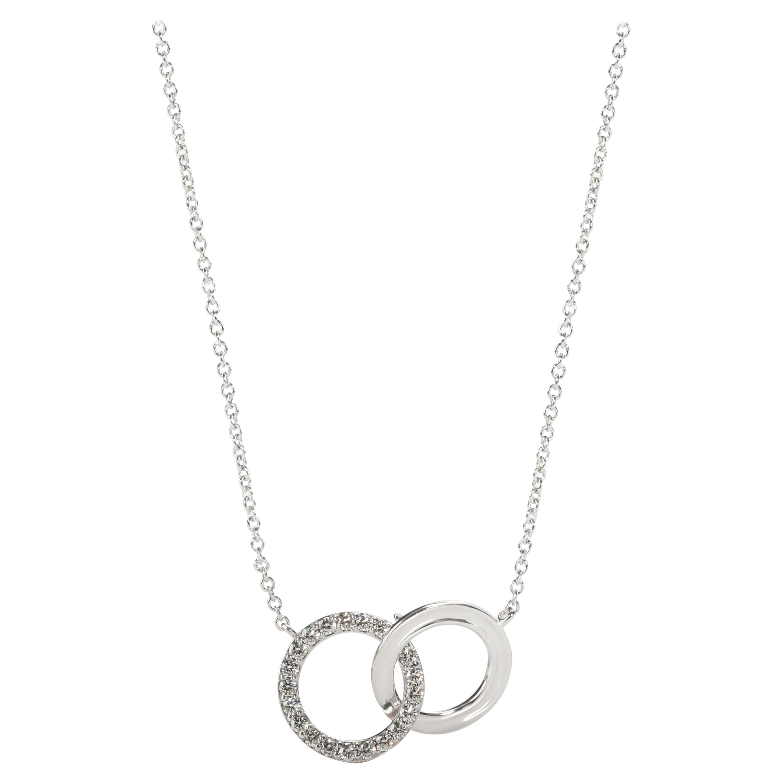 Tiffany & Co. Interlocking Circle Diamond Pendant in 18K White Gold 0.20 CTW