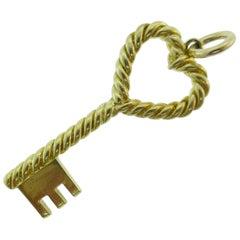 Tiffany & Co. Italy 18 Karat Gold Key to My Heart Pendant Vintage, circa 1960s