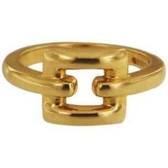 Tiffany & Co. Italy 18 Karat Yellow Gold Buckle Band Ring