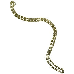Tiffany & Co. Italy 18 Karat Yellow Gold Chain Link Necklace circa 1980s Vintage