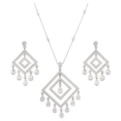 Tiffany & Co 'Jazz' Collection Diamond Necklace and Pair of Earrings