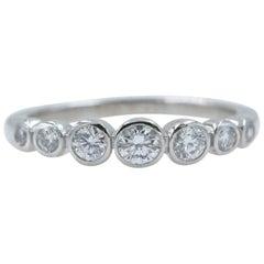 Tiffany & Co. Jazz Diamond Half Circle Graduating Band Platinum 0.31 Carat
