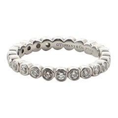 Tiffany & Co. Jazz Graduated Band Ring Platinum and Diamonds