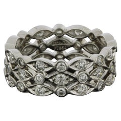 Tiffany & Co. Jazz Platinum 1.44 Carat Round Diamond Eternity Ring