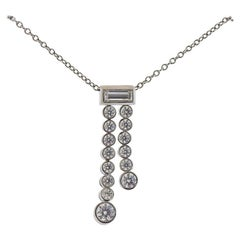 Tiffany & Co. Jazz Platinum Diamond Pendant Necklace