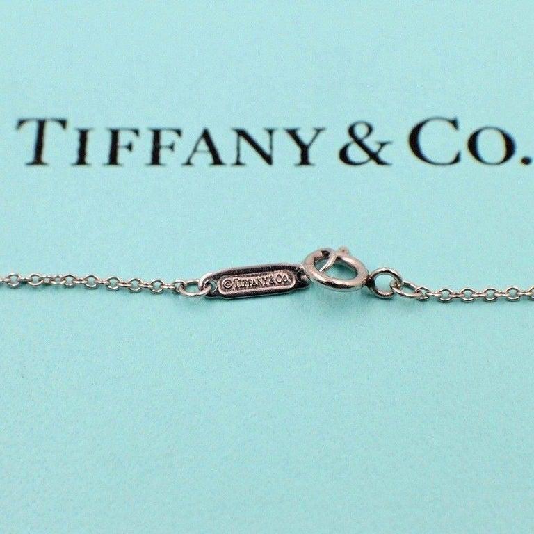 Round Cut Tiffany & Co. Jazz Round 0.90 Carat Diamond and Platinum Circle Pendant Necklace For Sale