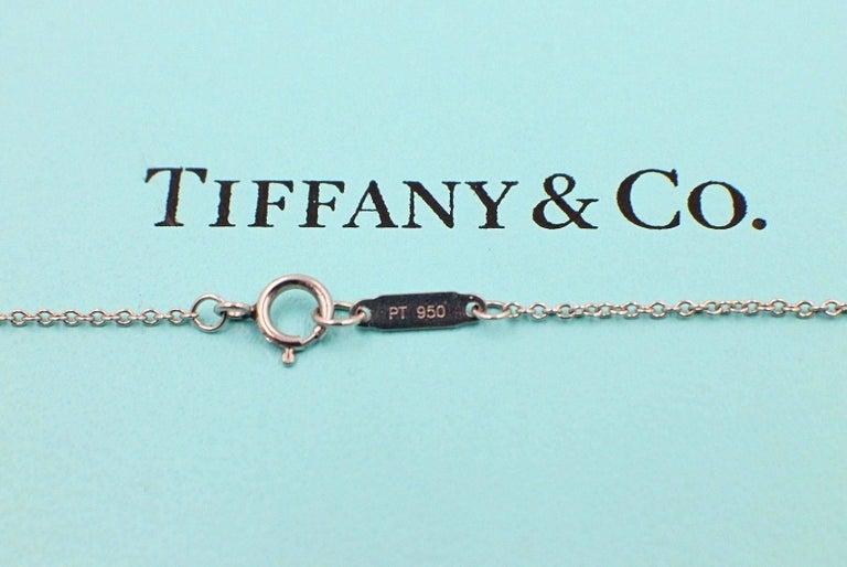 Women's Tiffany & Co. Jazz Round 0.90 Carat Diamond and Platinum Circle Pendant Necklace For Sale
