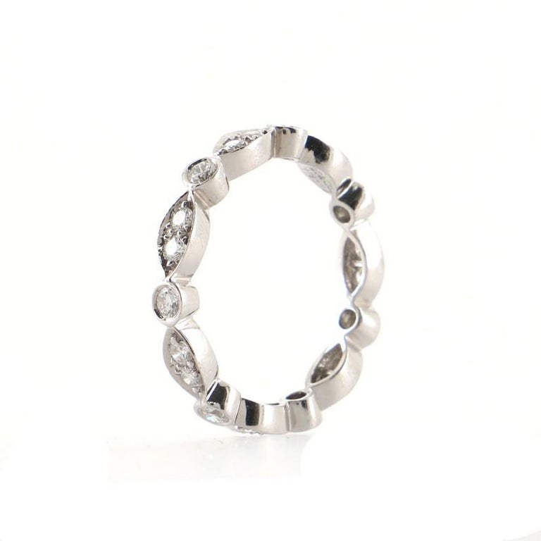 Round Cut Tiffany & Co. Jazz Swing Ring Platinum with Diamonds For Sale