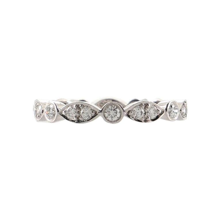 Tiffany & Co. Jazz Swing Ring Platinum with Diamonds