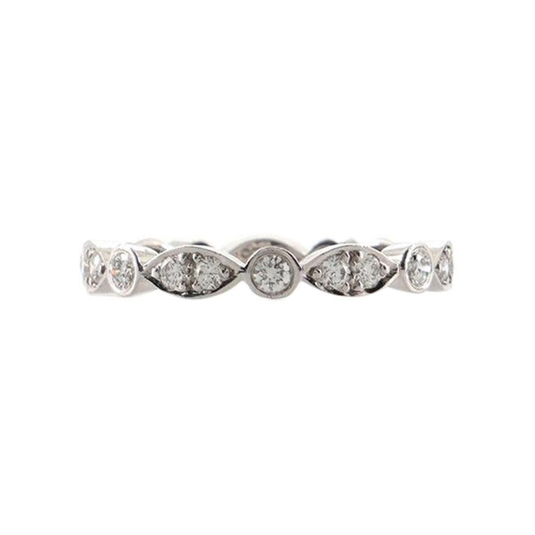 Tiffany & Co. Jazz Swing Ring Platinum with Diamonds For Sale