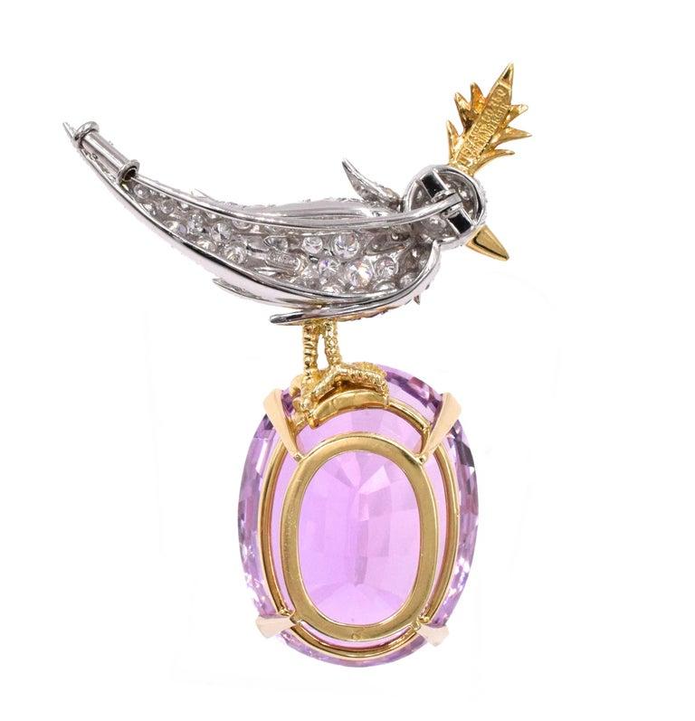 9e5e96643e22f Tiffany & Co. Jean Schlumberger Kunzite Bird on a Rock Brooch