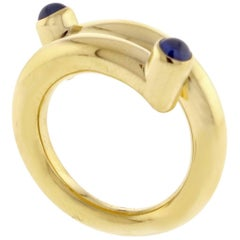 Tiffany & Co. Jean Schlumberger Cabochon Sapphire Single Coil Ring