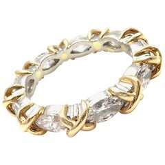 Tiffany & Co. Jean Schlumberger Diamond Yellow Gold Platinum Band Ring