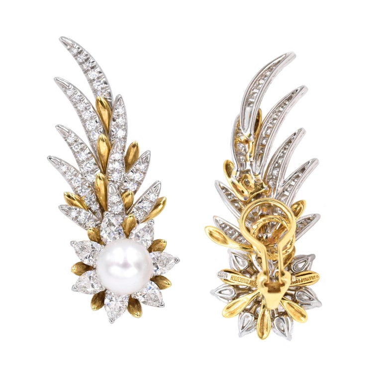 Tiffany & Co. Jean Schlumberger Flame Ear Clips For Sale 1
