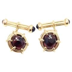 Tiffany & Co. Jean Schlumberger Garnet Yellow Gold Cufflinks