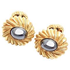Tiffany & Co. Jean Schlumberger Hematite Yellow Gold Cufflinks