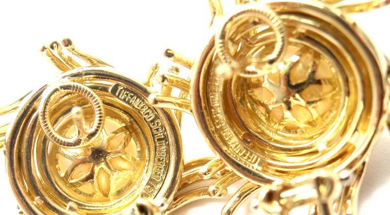 Women's or Men's Tiffany & Co. Jean Schlumberger Pearl Yellow Gold Earrings For Sale