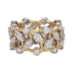 d741050ee Tiffany & Co. Jean Schlumberger Vigne Ring 18 Karat Gold Platinum and  Diamonds