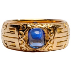 Gilded Age Tiffany & Co. No-Heat Kashmir Sapphire Ring, 1897 AGL Cert