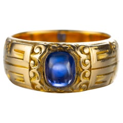 Tiffany & Co. Kashmir Sapphire Ring American Gilded Age Certified Untreated