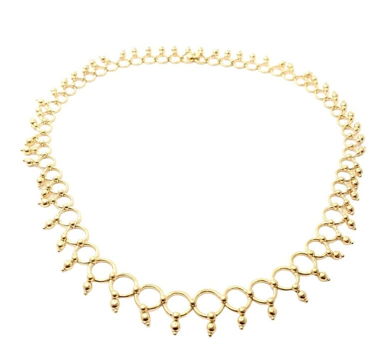 Tiffany & Co. Kashmir Yellow Gold Necklace In Excellent Condition For Sale In Holland, PA