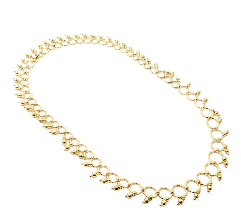 Women's or Men's Tiffany & Co. Kashmir Yellow Gold Necklace For Sale