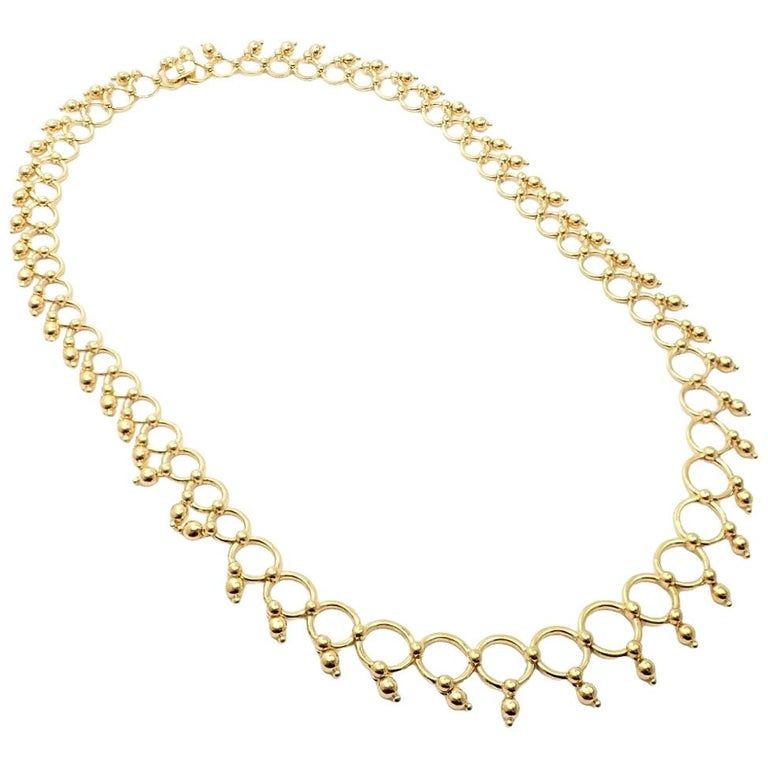 Tiffany & Co. Kashmir Yellow Gold Necklace For Sale