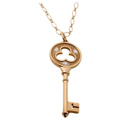 Tiffany & Co. Key Chain Necklace, 18 Karat Gold