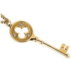 Tiffany & Co. Key Pendant Necklace