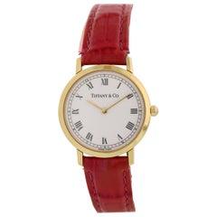 Tiffany & Co. L1530 18 Karat Yellow Gold Vintage Ladies Watch