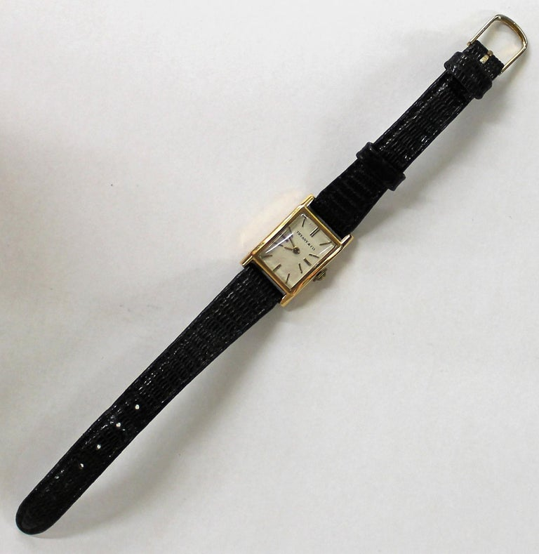 20th Century Tiffany & Co. Ladies 18-Carat Gold Watch For Sale