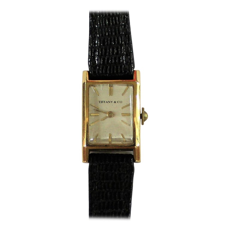 Tiffany & Co. Ladies 18-Carat Gold Watch For Sale