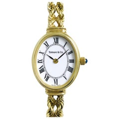 Tiffany & Co. Ladies Gold Bracelet Watch, Circa 1996