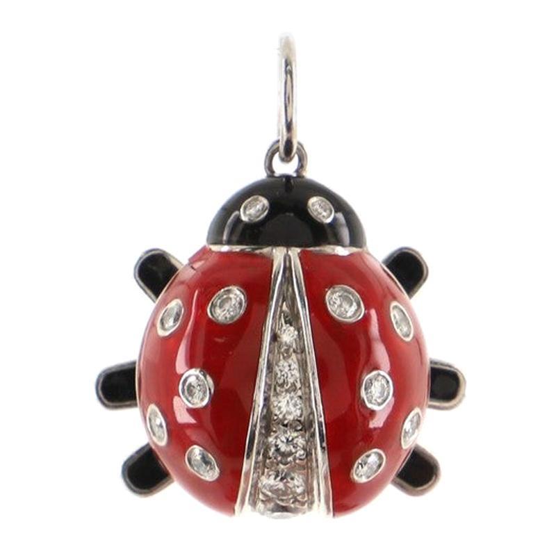 Tiffany & Co. Ladybug Pendant Pendant & Charms Platinum with Enamel and Diamonds