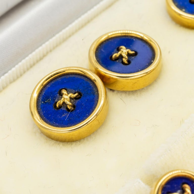 Tiffany & Co. Lapis Lazuli and Gold Dress-Set, circa 1970 In Good Condition For Sale In London, GB