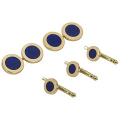 Tiffany & Co. Lapis Lazuli Cufflinks and Dress Studs Set