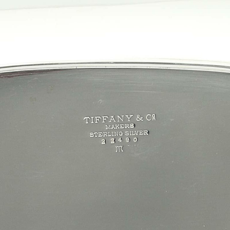 Women's or Men's Tiffany & Co Large Serving Bowl Tray 22490 M Sterling Silver Vintage For Sale